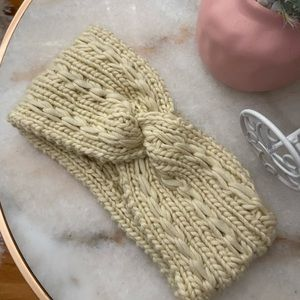 Knit Cream Woven Knot Headband